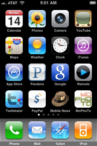 My iPhone's Home Screen by mattjb