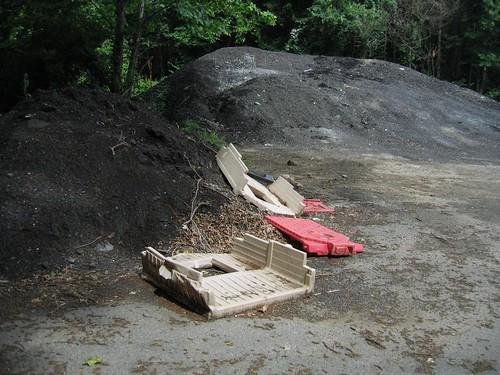 Bulldozed children's playhouse