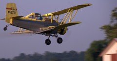 Crop Duster (jschladen) Tags: sky yellow plane airplane flying wings aviation farming spray ag duster round agriculture propeller schweizer prop biplane spraying radial cropduster agcat g164