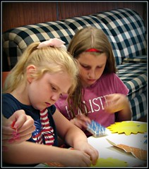 Girls Doing Crafts
