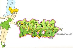 TNT KRU Stray (The Night Titans) Tags: new pink blue original light woman black green art girl yellow wall night ink paper stars photography one graffiti book fly sketch photo cool wings colorful paint bell vibrant character tag cartoon tinkerbell peterpan can disney fresh spray pixie fairy talent tink marker stray neat sharpie easy lime hook toon burst dope dust piece tnt walt neverland 2008 freight titans blackbook tinker tagger phresh oner kru aerosal