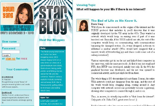 Dawn Yang plagarises her blog entries? - Alvinology