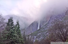 Fog Shrouded Yosemite Falls (_BigK_) Tags: winter mist cold fog cloudy falls yosemite shrouded cloaked waterfallwaternationalpark