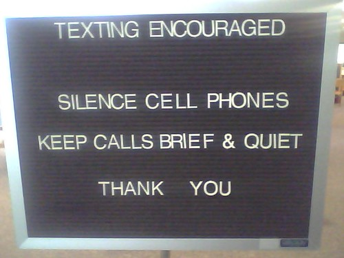 Texting Encouraged