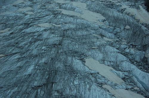 ロープウェイからみた氷河