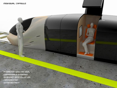 Train capsule concept from Hamit Kanuni Kuralkan