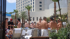 By the pool, Vegas
