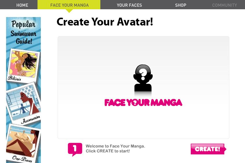 FACEYOURMANGA's Create Your Avatar Page