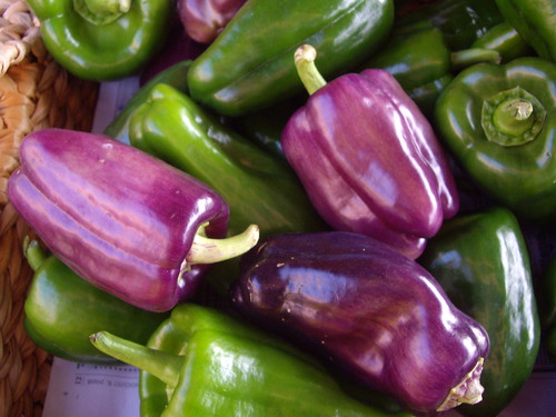 Green and Lilac Peppers
