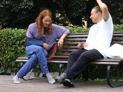 Backgammon playing in the park (Lalallallala) Tags: man game smile socks bench helsinki kallio injury win boardgame gesture lose backgammon postoperation torkkelinmäki firendship lautapeli torkkelinpuisto