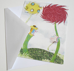 Lorax (The Blue Forest Etsy Shoppe) Tags: postcard drseuss thelorax