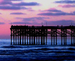 Pacific Beach Twilight, California Sunsets at its Best (moonjazz) Tags: ocean california pink light sunset sea sky west water clouds pier photo twilight soft quiet peace view purple pacific sandiego time pastel watch wave icon shore end goodbye pacificbeach bye bliss crystalpier eace