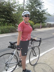Amy on our 14-mile bike ride. (09/07/2008)