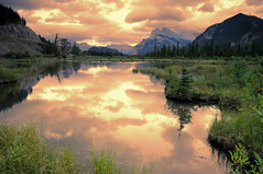 Vermillon Lake and Mount Rundle, Banff National Park (canbalci) Tags: sunset canada searchthebest alberta mountrundle banffnationalpark vermillon