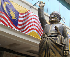 Hands Up, Thumbs Up! (crystoforo) Tags: holiday up statue handle hands malaysia sword kualalumpur thumbs kl handsup raised malaysianflag top50 topfavorite topphotos
