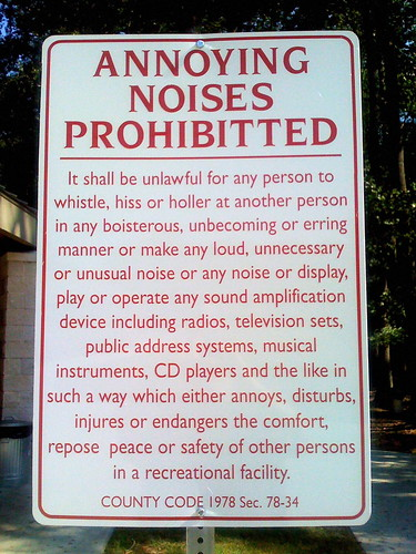 Annoying Noises Prohibitted [sic] by BarelyFitz
