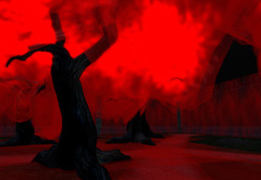 Landscape (zanner58) Tags: red cemetery landscape surrealism surreal sl secondlife surrealist shadowside zannerigaly
