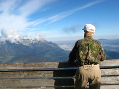 Band of Brothers:  506th Veteran Red Falvey returns to the Eagle's Nest (Dog Company) Tags: berchtesgaden nest brothers band airborne eagles hitlers 101st currahee