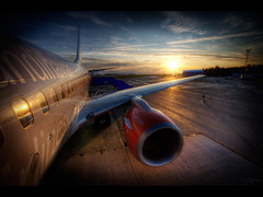 Time for a business trip (Kaj Bjurman) Tags: desktop light sunset wallpaper vacation sun airplane eos airport sweden large traveling sas airlines hdr scandinavian kaj businesstrip stersund cs3 photomatix 40d bjurman