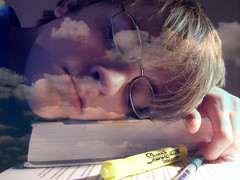 Les Yeux Ouverts (connuum) Tags: justin selfportrait clouds french books sleepy papers tired stress biology argh studying day52 exhausted dreamalittledream thebeautifulsouth panicattack 365days theopeneyes