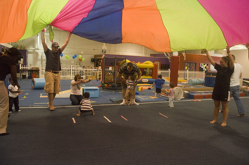playing with the parachute