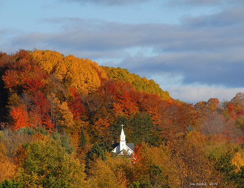 Church Steeple in Maple City by Jim Sorbie