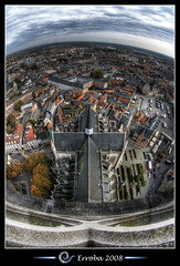 View from St Rumbolds Tower over the city of Mechelen, Belgium :: HDR :: Fisheye (Erroba) Tags: world city sky tower heritage church photoshop canon rebel cross cathedral belgium belgique tripod gothic belgi sigma medieval unesco fisheye tips remote erlend hdr height mechelen birdseye cs3 10mm arialview rombouts blueribbonwinner 3xp photomatix tonemapped tonemapping xti 400d rumbolds diamondclassphotographer flickrdiamond erroba robaye erlendrobaye rombolds mechelenmeetup2008