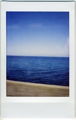 from train window (miwas) Tags: trip blue sea instant fujifilm otaru trainwindow cheki fujiinstaxmini instaxmini azuresea instaxmini7s