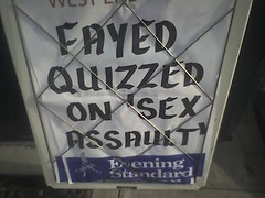 Fayed Quizzed On 'Sex Assault' (LinkMachineGo) Tags: sex assault billboard quizzed mohamedalfayed