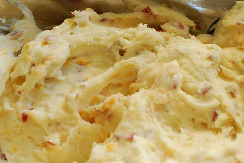 Red potatoes: with cheddar.
