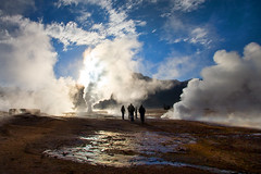 Geysers del Tatio - Chile (Aur from Paris) Tags: chile travel mountain southamerica backlight landscape volcano chili desert wilde altitude bolivia atacama geology geyser altiplano eltatio canoneos5d aur iiregion anawesomeshot antafagosta