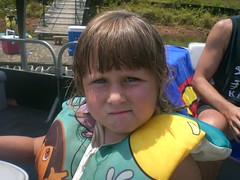 Bethany on the boat (Realtorldy) Tags: virginia oldwomanscreek leesvillelake flattopcove grenta