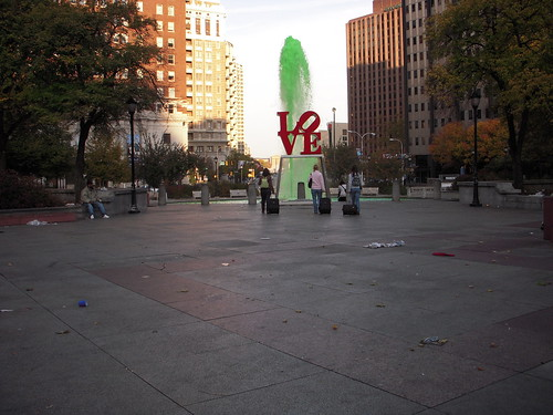 Love Park, Green water