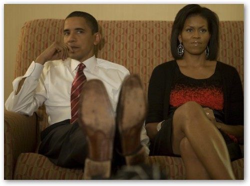 Obama with Feet Up