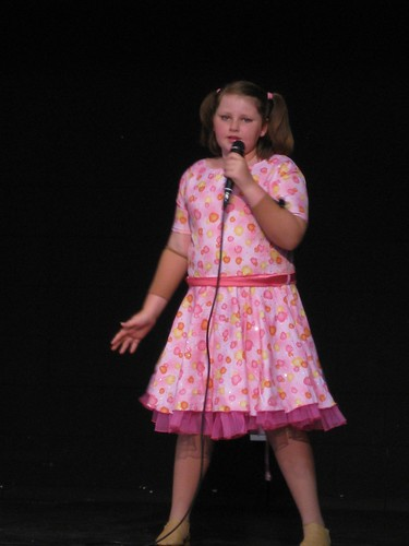 Amy's first solo singing performance