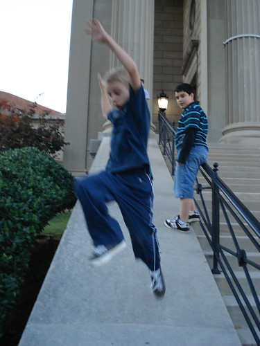Seth tries to jump very high by <span class=
