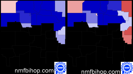 New Mexico 3rd Congressional District Maps From 2004 and 2008