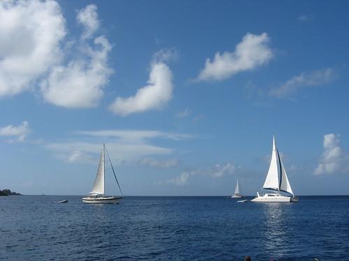 ocean travel sunlight water beautiful clouds boats sailboats tortola 2008
