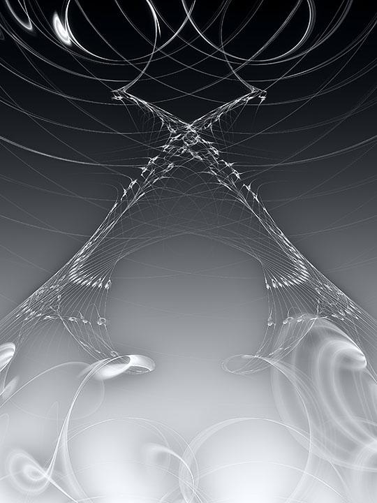 Fractal Art - Marked Space by Nicholas M Vivian
