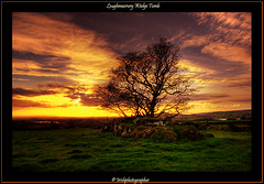 Loughmacrory Wedge Tomb (Irishphotographer) Tags: trees ireland sunset tree art nature landscape ancient rocks celtic sureal hdr myths irishart kinkade beautifulireland anawesomeshot colorphotoaward besthdr imagesofireland colourartaward picturesofireland pentaxk20d rockeryshots flickrlovers irishphotographerkimshatwellireland loughmacrorywedgetomb irishcalender09 calendarofireland breathtakingphotosofnature beautifulirelandcalander wwwdoublevisionimageswebscom