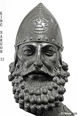 King Sargon II of the Assyrian Empire (1 Johnny) Tags: old archaeology ancient king iraq historic empire mighty babylon nineveh mesopotamia assyria ashur ator assyrian babylonian sargon sumerian babylonia akkad blackwhitephotos  kingsargon