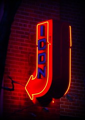 iconic (Singing With Light) Tags: nyc red orange ny bar neon glow manhattan icon iconic sugn