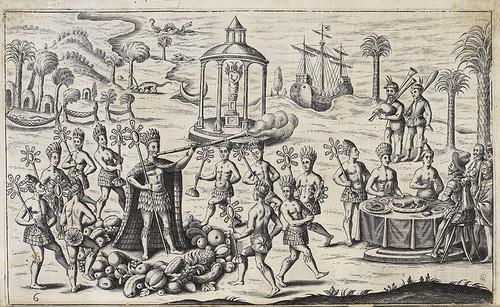 004- Los nativos agasajan a los españoles