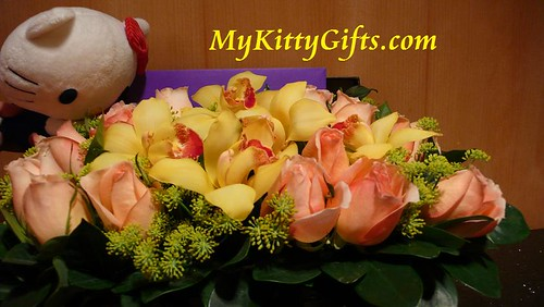 Hello Kitty and Birthday Flowers