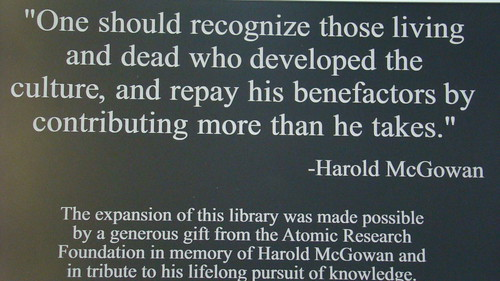 Brookhaven Campus Library Plaque