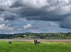 Benches in Wales (saxonfenken) Tags: wales clouds bench carmarthenshire solitude peace seat unam thumbsup laugharne twothumbsup bigmomma 7966 challengeyou motifdchallengewinner rivertaf a3b friendlychallenges friendlycomments thechallengefactory thumbsupwrestling agcg tuw121 yourock1st herowinner pregamewinner gamesweepwinner 7966river