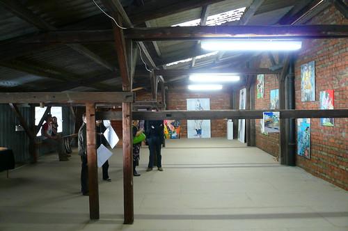 Ausstellung Balken bei TEVES Juli 2007