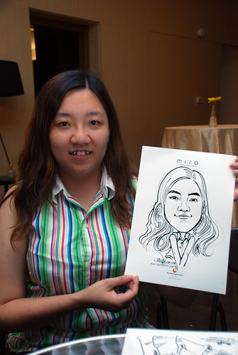 Caricature live sketching for Far East Organisation SPH Media Night The Miro 16