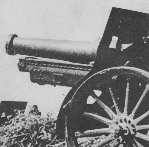 Fuerzas de artillería republicanas disparan contra el Alcázar. Julio de 1936