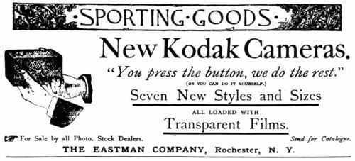 anuncio impreso de la Kodak 100 Vista
